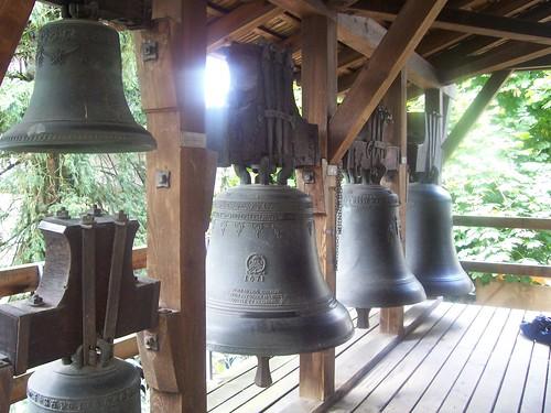 Bells in the grounds of Historisches Museum Bern