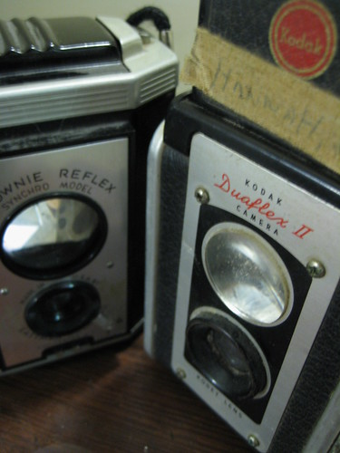 brownie reflex and kodak duaflex ii (by lauraloops)