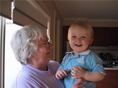 Lynda Manwaring and grandson