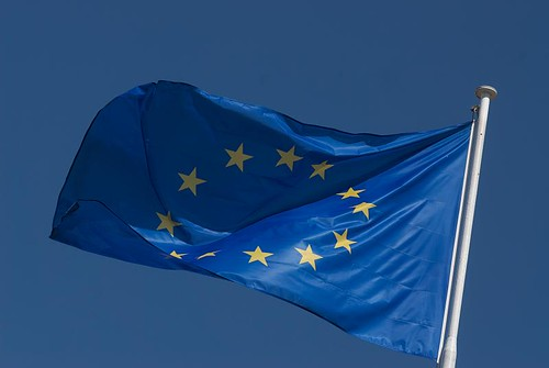 The emblem of CoE: the European Flag