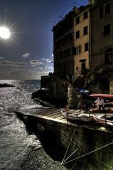 cinque terre fisherman (briantmurphy) Tags: travel italy sunlight water boats coast fishing village tokina1224 cinqueterre btm tonemapped nikond300
