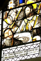 French stained glass window, All Saints - Stretton-on-Dunsmore
