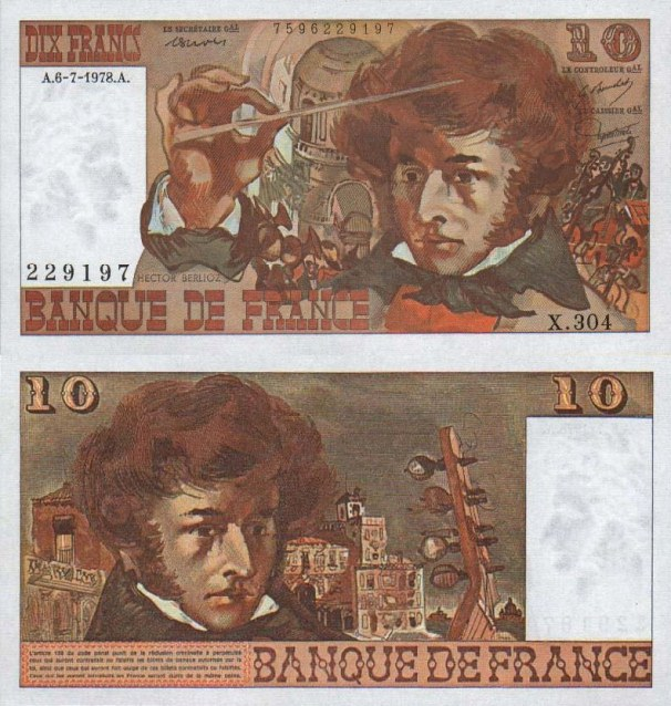 France P-150c, 10 Francs, 1978