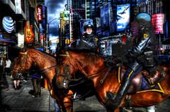 NYPD Mounted Police (Tony Shi Photos) Tags: nyc newyorkcity cool manhattan nypd timessquare handheld attention horseback hdr officer mountedpolice   esu  newyorkpolicedepartment    nikond700    thnhphnewyork  tonyshi