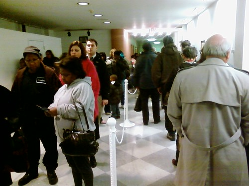 Waiting to vote in Cleveland