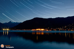 Star Trails -  Zell Am See (Essa Al-Sheikh - @Bo3awas) Tags: city trip blue summer sky lake salzburg canon photography star austria see sterreich am europe trails sigma shutter kuwait 1020mm 2008 zell q8 longe alsheikh eissa blueribbonwinner supershot 5photosaday flickrsbest xti 400d mywinners goldstaraward eissagallerycom