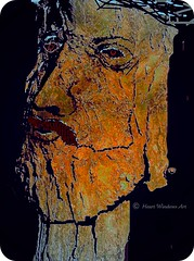 The Carpenter: Marred Visage (Heart Windows Art) Tags: tree art digital jesus trunk bible visage carpenter verse cutoff marred artisticexpression truncate proudshopper awardtree