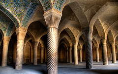 Shiraz mosque (momentaryawe.com) Tags: iran islam religion columns arches mosque shiraz