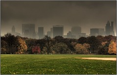 New York Skyline from Central Park (Ahmad A Karim) Tags: park new york nyc fall weather skyline central stormy 2008