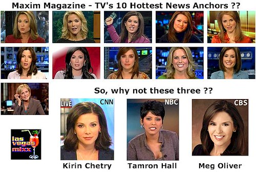 Maxim: TV's hottest news anchors