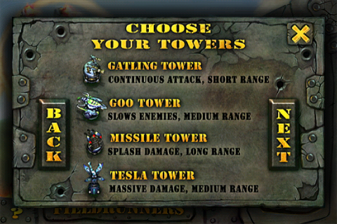 Tower types