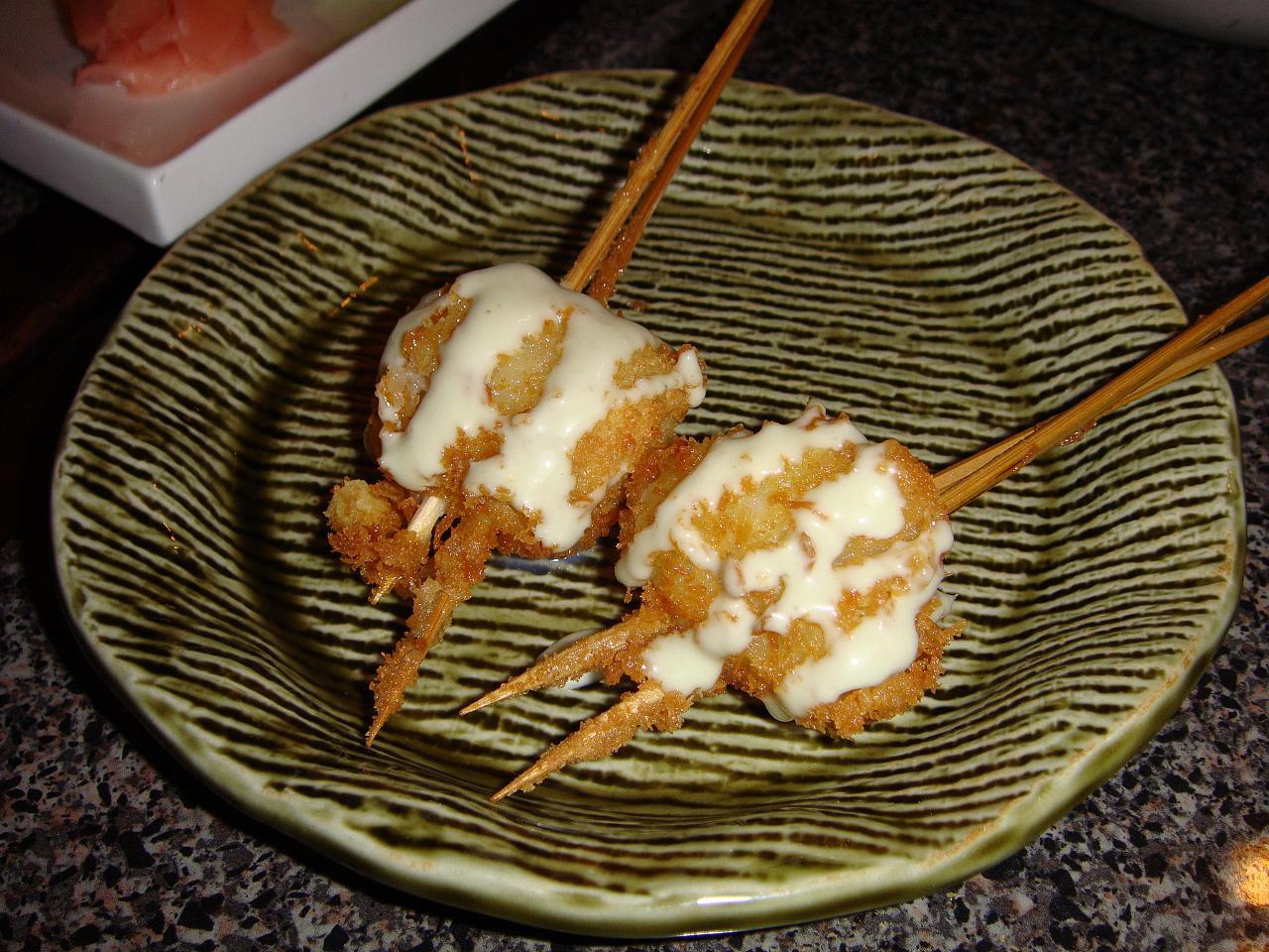 Kushiage Scallops, wasabi aioli