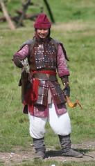 IMG_5402 (jgmdoran) Tags: canon flags archer reenactment 2007 militaryodyssey platemail lancastrians billhook arquebus waroftheroses highmedieval yorkists
