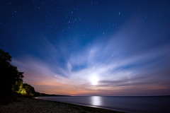IMGP-7554 (Bob West) Tags: longexposure nightphotography moon ontario beach night clouds lakeerie greatlakes nightshots startrails sigma1020mm southwestontario bobwest k10d