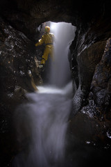 The Bung (rob_eavis) Tags: light painting peak sit cave caving cavern suss speedwell bung streamway