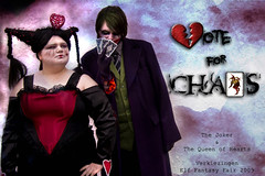 VOTE FOR US!!! (DamionDagostino) Tags: life promotion hearts real cards king chaos contest apocalypse queen help batman joker vote wonderland eff rl