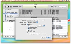 iTunes - Burning Audio CDs with Text Info