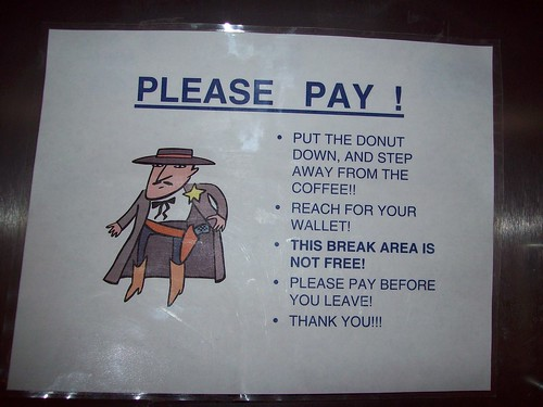 PUT THE DONUT DOWN, AND STEP AWAY FROM THE COFFEE!!