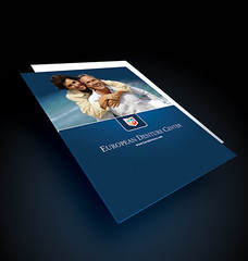 Folder Design (ben.bibikov) Tags: ocean blue sea beautiful smiling logo design graphicdesign european creative center idaho boise medical business company identity attractive packet presentation folder denture maturecouple bibikova