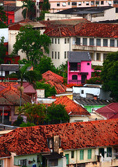 telhados e o sobrado pink (Marcus Vincius Martins-Jung) Tags: street city pink red summer brazil cloud color verde primavera colors beautiful brasil architecture trash canon spring still colorful raw portoalegre eu nuvens vero colourful riograndedosul rvores rustyandcrusty estdio telhados luzdejanela xti trashbit paisajesdepueblosycampos
