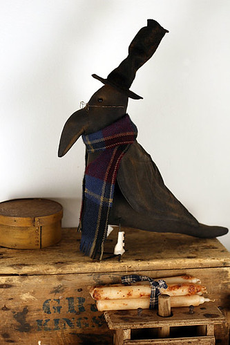 Primitive Folk Art Crow Doll
