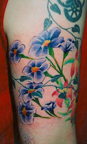 violets Tattoo by Jack at Fate