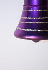 Crishtmas bell (Scott Ellison) Tags: christmas xmas holiday studio purple seasonal decoration bauble pfogold pfosilver pfoisland05