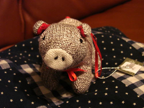 Sock Piggy Ornament