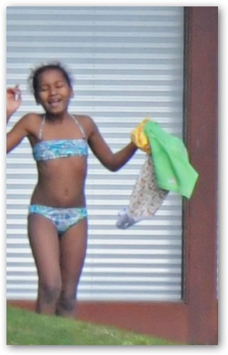 Sasha Obama in Blue Bikini
