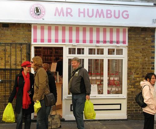 Mr Humbug in Greenwich Market