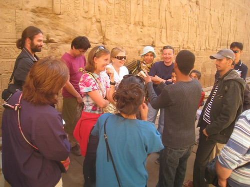 Our local guide explains the mythical history of relavent gods