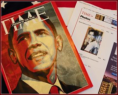 TIME Magazine; Person of the Year, Greg's Art and My Photo Online (Tony Fischer Photography) Tags: art magazine election time president canvas personoftheyear 2008 campaign democrat 2009 obama happynewyear barack boudreau presidentelect