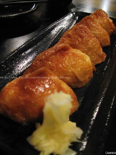 你拍攝的 豆皮壽司。