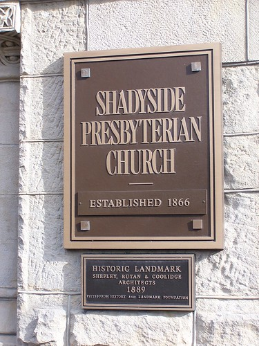 Shadyside Presbyterian Church PHLF Plaque