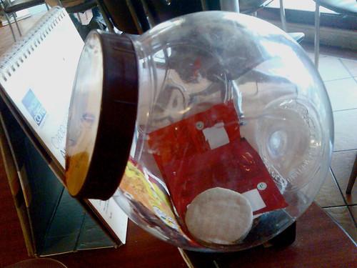 Good Day cookie jar vandalized