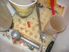 yucky (they'll be spittin' in your eye) Tags: seattle color utensils digital washington sink knife messy lookingdown 2008