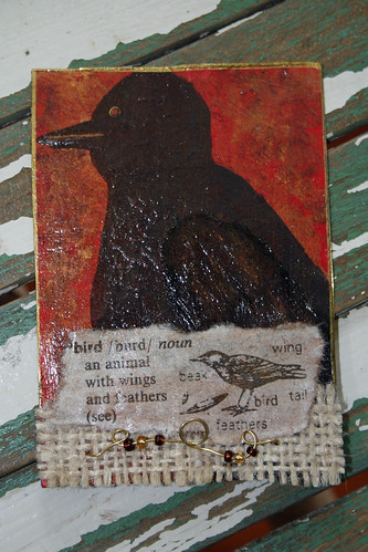 Bird Collage Atc