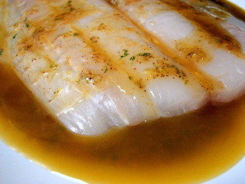 halibut in marinade