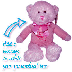 Girls Personalised Teddy Bear
