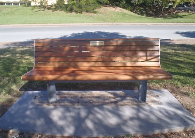 Dad's memorial bench at UQ