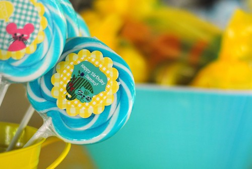 Detail of the lollipops