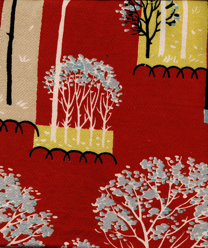 Vinatge Fabric - 50's Barkcloth