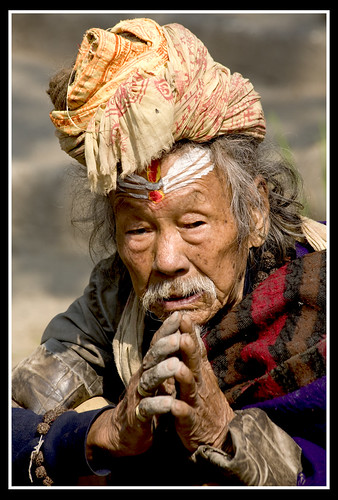 portrait from a old Sadhu