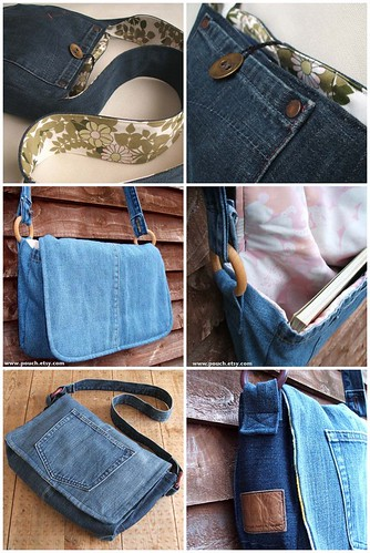 Recycled denim bags