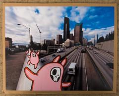 Collab with SlightlyNorth headed to Seattle (Bonus Saves) Tags: paint being cardboard carton bonus sent reused starheadboy slightlynorth