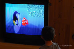 Looking at Nemo (Leley) Tags: tv child crianca leley televisao watchingtelevision diaadiadobrasileiro olhandotelevisao