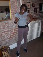 Me wearing the Doug E. Puma Clydes
