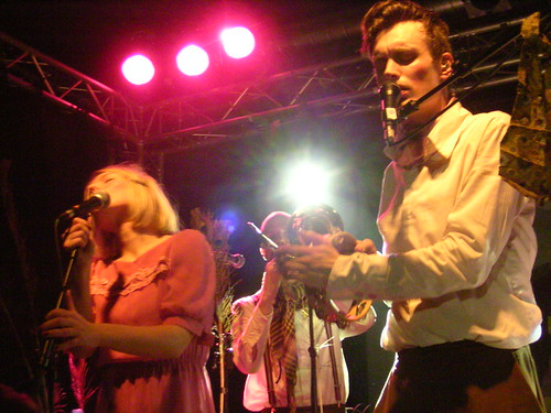 Anna, Niklas, and Casper of Efterklang on April 7, 2008