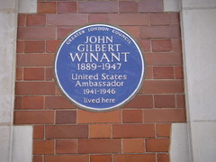 Photo of John Gilbert Winant blue plaque