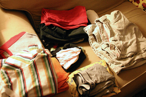May 5, 2008: Neatly folded laundry